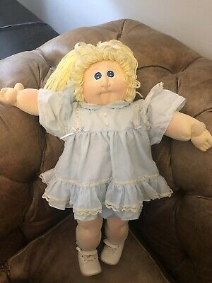 Cabbage Patch Soft Sculpture Girl With Blonde Hair/Blue Eyes 1984 Xavier Roberts
