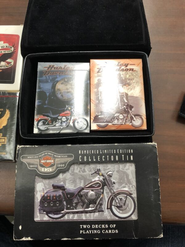 Harley Davidson Motorcycle Playing Cards LOT OF VARIOUS ITEMS 100th year