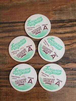 Vintage Ferguson Farm Dairy Milk Bottle Cap Inserts LOT of 5