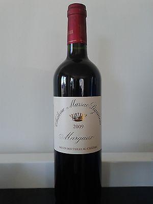 1 bouteille de Margaux 2009 Château Marsac Séguineau