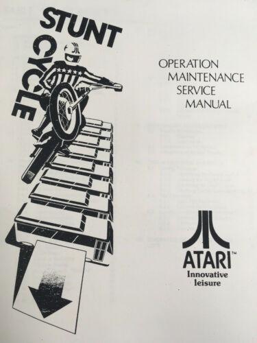 Atari Stunt Cycle Arcade Machine Operation Maintenance Service Manual Schematics