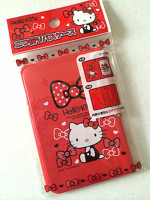NEW Sanrio Red Hello Kitty ID Case Thin Card Wallet Slim Compact