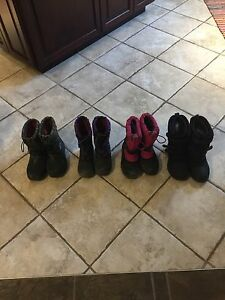 Various kids good quality boots