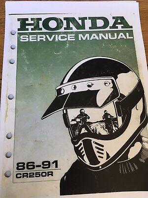 HONDA CR250R Workshop Service Manual 1986 - 1991 Paper bound copy