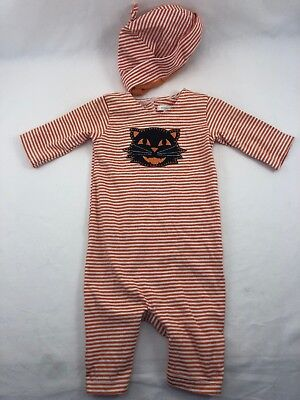 Pottery Barn Kids Baby Black Cat Halloween Costume/Pajama Set 0-3 Months NWT (Childrens Black Cat Halloween Costume)
