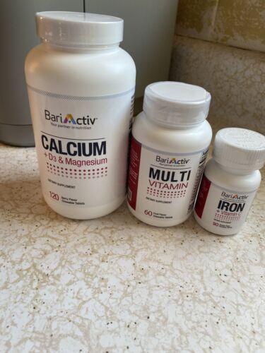BariActiv Bariatric Vitamins lot of calcium+Mag+D3-multi-iron+VIT C NEW Sealed E