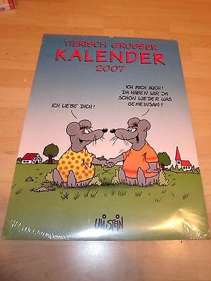 """Uli Stein """"Tierisch Großer Kalender 2007"""" noch eingeschweißt"""
