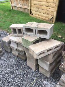 Foundation. Concrete  blocks