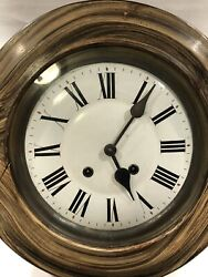 Antique French Nouveau Gallery/ Cafe Wall Clock By ODO