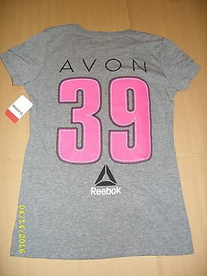 (REEBOK - AVON 39 - THE WALK TO END BREAST CANCER - LADIES T-SHIRT (BH4685) *NEW*)