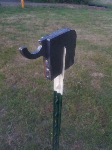 AR500 T post steel target hanger hook (4 Pack)