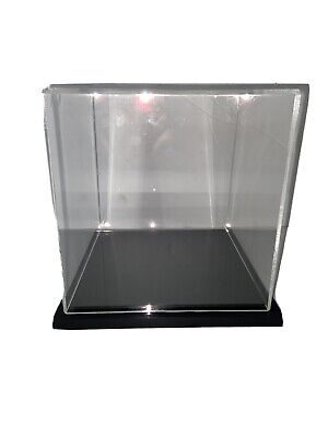 Plymor Clear Acrylic Display Case With Black Base 6 X 6 X 6