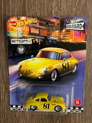 New! Hot Wheels Boulevard Porsche 356 Outlaw 6/10 Real Riders by Mattel