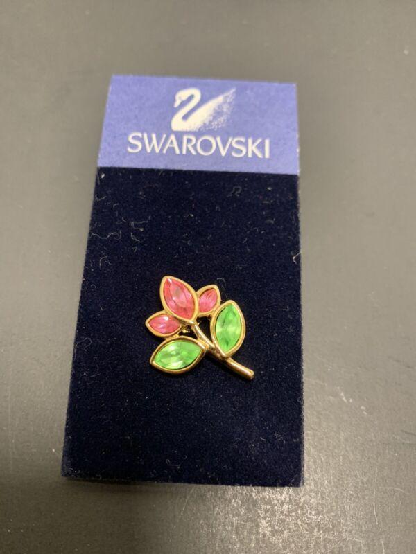Swarovski Crystal Flower Pin NWT