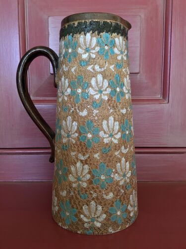 Doulton Lambeth Slaters Patent Aesthetic Movement Pitcher / 19thC