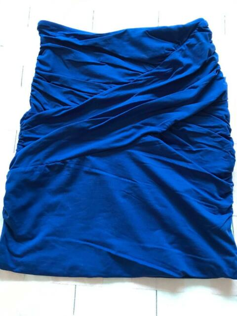001db73357 Kookai Stretch Bodycon Midi Skirt Size 1 Cobalt Blue