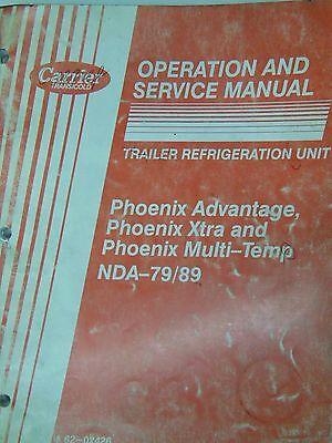 Trailer Refrigeration Unit Nda-7989 Phoenix Operation Serivce Manual 1992