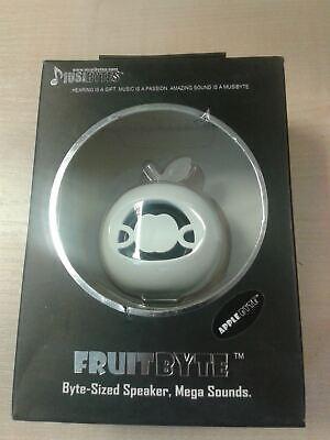 MusiBytes Fruta Byte Blanco Mini Altavoz Música para Ipod, MP3 Portátiles Nuevo