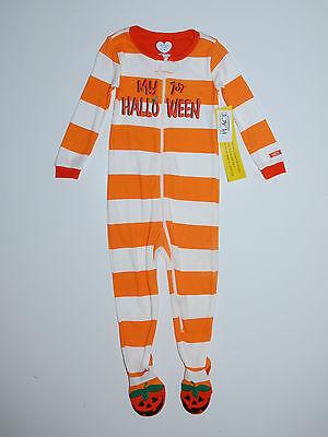 Nachtwäsche Place USA 92-98 Schlafanzug Füßen Halloween Einteiler Pyjama Kürbis