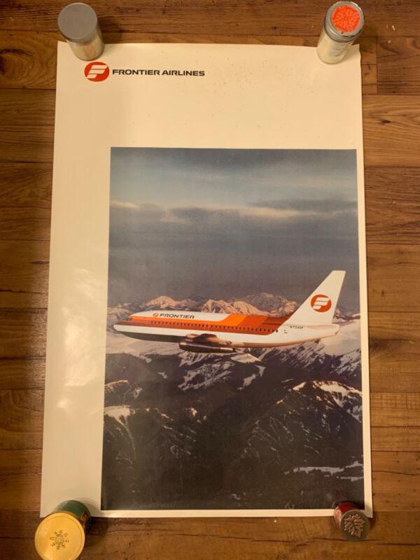 Frontier Airlines 737 Classic Poster