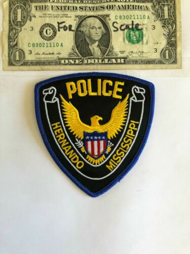 Hernando Mississippi Police Patch Un-sewn Great condition