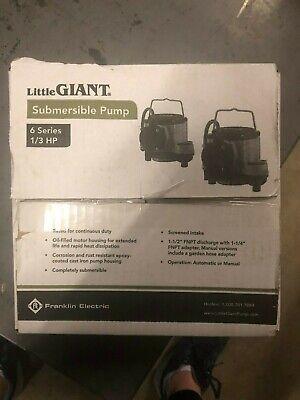 Little Giant 6-cim-r Manual Sump Pump W 25 Cord 13 Hp 115v