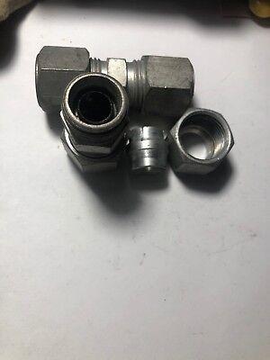 """Hydraulic Tube Fittings - 2 - Hydraulic Steel Compression Union, 1/2"""" Tube  - A2L6"""