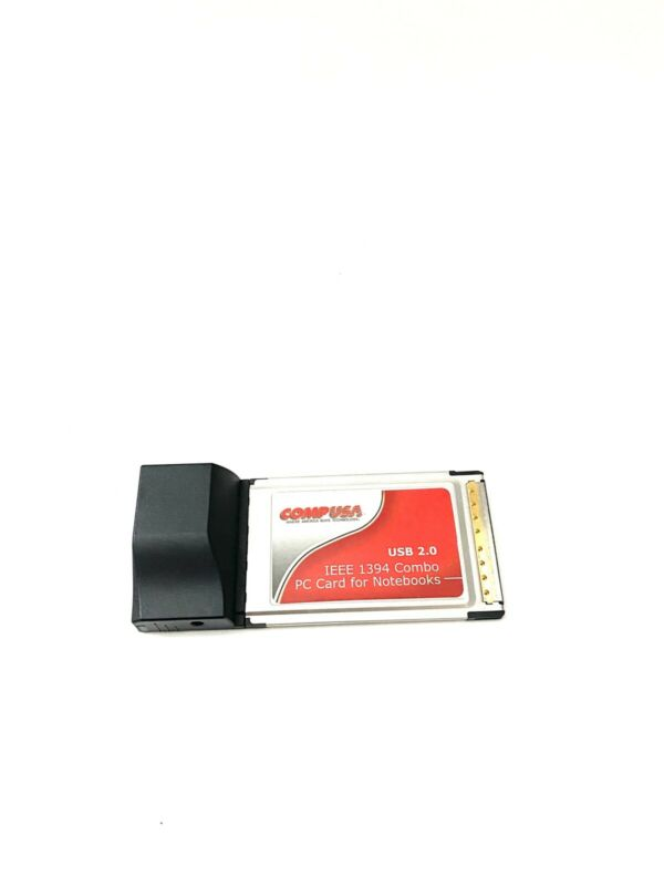 CompUSA CardBus USB 2.0 IEEE 1394a FireWire Combo PC Card for Notebooks