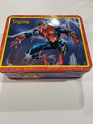 Marvel Comics Spider-Man Edition Collectible Metal Tin Embossed Lunch Box