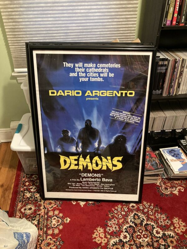 Demons Original One Sheet Movie Poster Dario Argento 1986 Horror Read First!