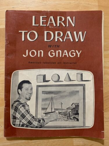 Learn to Draw with Jon Gnagy, 1950, Art, pencil sketching,