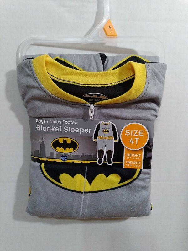 Boys 4T Batman Footed Blanket Sleeper
