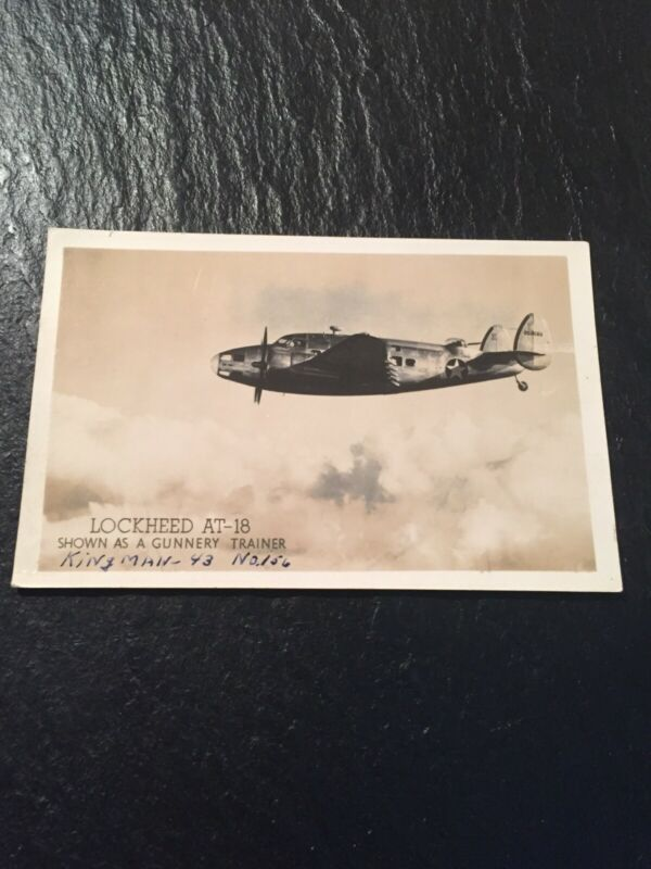 Lockheed AT-18 Bomber Gunnery Trainer Airplane WW2 Photo Postcard