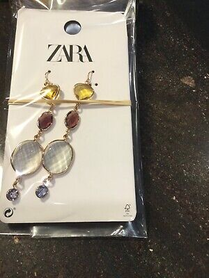 Zara Long Gemstone Pierced Earrings