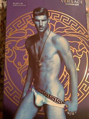 NWT Authentic Versace Men's Brief Size 4 Mens Underwear Black