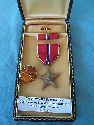 WWII US ARMY NAMED BRONZE STAR MEDAL COMPLETE SET 8th ARMORED DIVISION