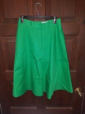 La Redoute Poplin Flare Midi Skirt With Pockets Green Size USA 8  - La Redoute Skirt
