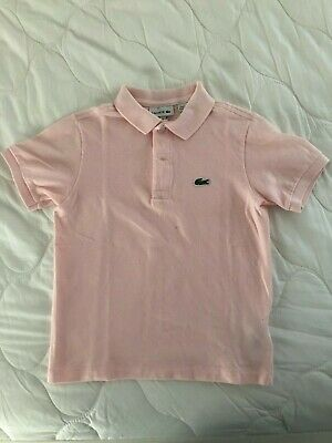 LACOSTE Kids Light Pink Cotton Pique Polo Shirt Size 8/128cm