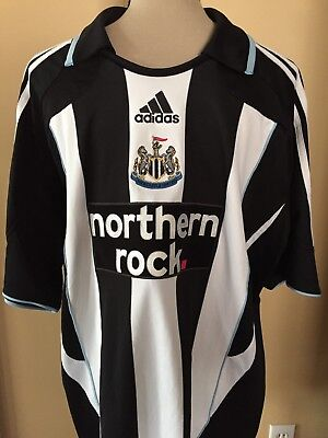 2007-2009 Adidas Newcastle United Home Soccer Jersey/Size XL/Premier League  image