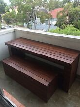 Outdoor Wooden Table & Bench  Randwick Eastern Suburbs Preview