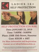 Ladies self protection course