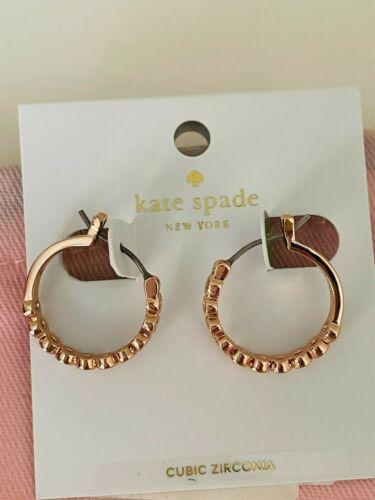 """KATE SPADE NEW YORK ROSE GOLD PLATED """"FULL CIRCLE"""" HOOP EARRINGS MSRP $48.00"""