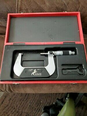 Brown Sharpe Tesa Etalon 71.115901 Outside Micrometer 2-3 Range .0001