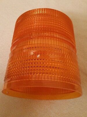 Federal Signal Nos Amber Replacement Lens 601500-02 For Ultra Star Strobe Led