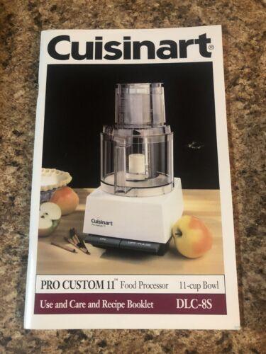 Cuisinart Pro Custom 11 Manual Guide Dlc-8s - $12.99