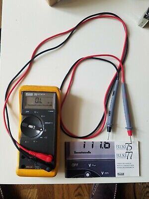 Fluke 75 Multimeter. With Leads And Casemanual. Good Condition. Works Well