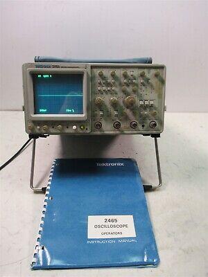 Tektronix 2465 300 Mhz Oscilloscope 4 Channel Analog Laboratory Unit