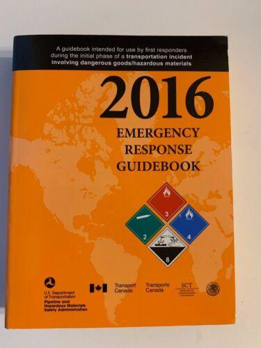 FREE SHIPPING - 2016 Emergency Response Guidebook US DOT PHMSA 4 x 5.5