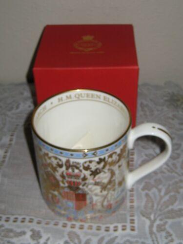 Royal Collection Trust Mug Cup Queen Elizabeth English Bone China Lion Crest