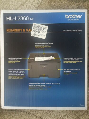 Brother HL-L2360DW Compact Laser Printer with Wireless Netwo